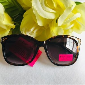 NWT Betsey Johnson Sunglasses with Rhinestones
